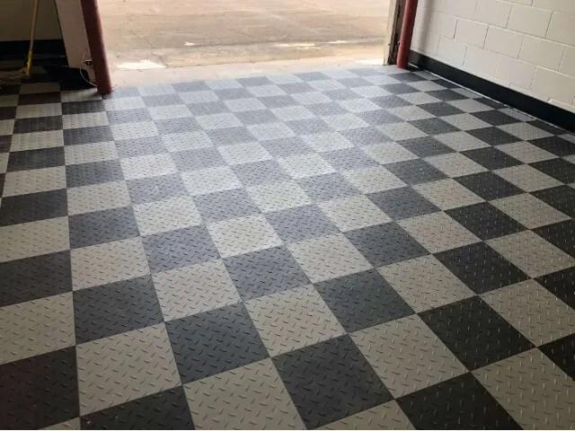 diamond top garage floor tiles