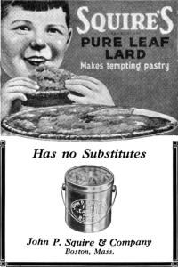 Squire's Lard from rendering plants