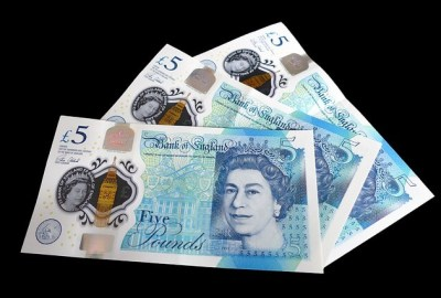 tallow in polymer 5 pound note uk