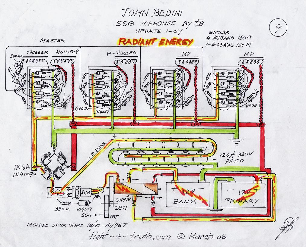 Circuito Motor Bedini : Bedini ssg motor circuit newmotorspot