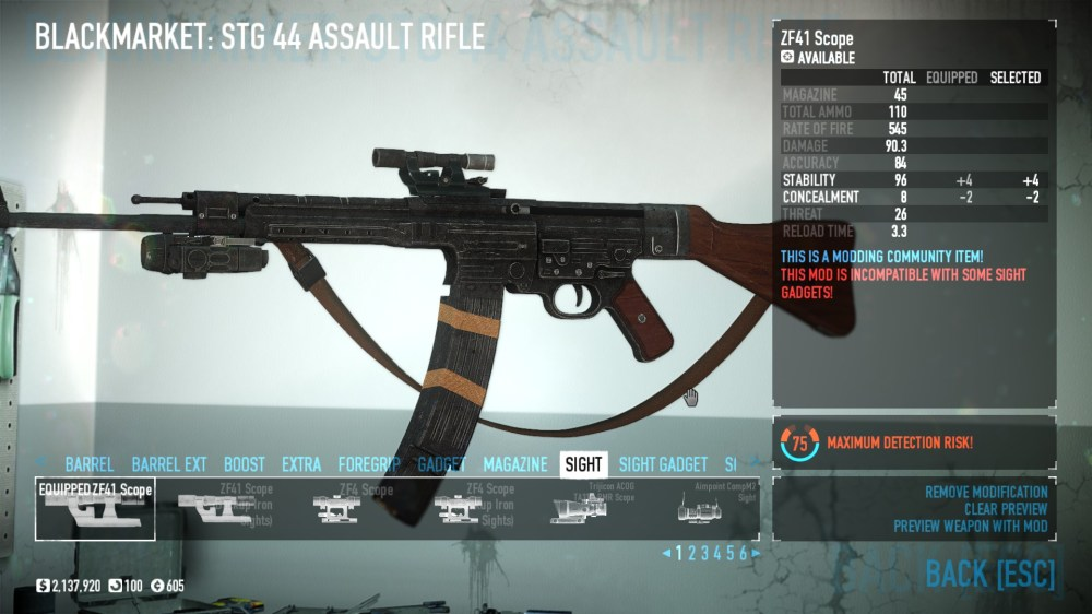 medium resolution of  drop stg 44 in mod overrides