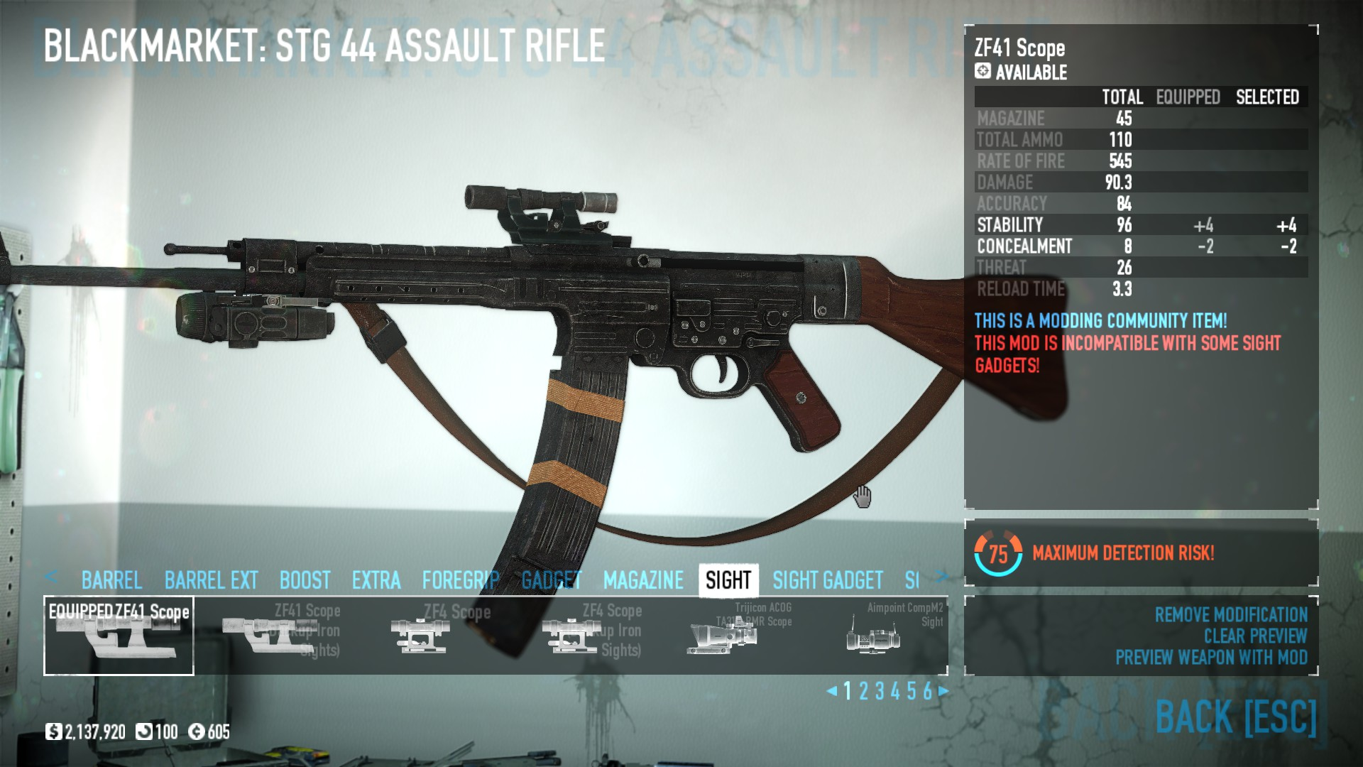 hight resolution of  drop stg 44 in mod overrides
