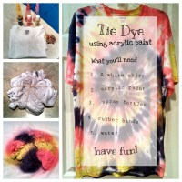 Acrylic Paint Tie-Dye | moebandiecraft