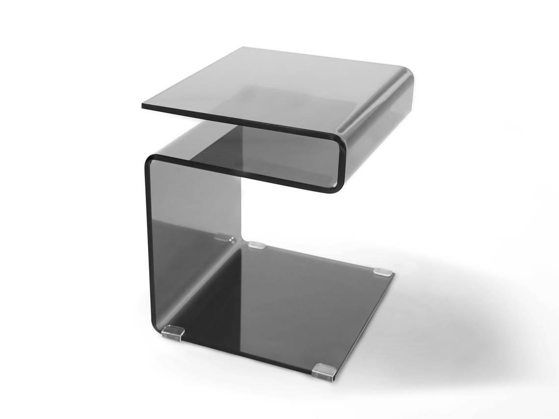 Nachttisch Glas Eisen Nachttisch Brescania In Silberfarben