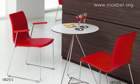 Stapelbare Sthle Sthle mit Reihenverbindung aus Holz und Metall
