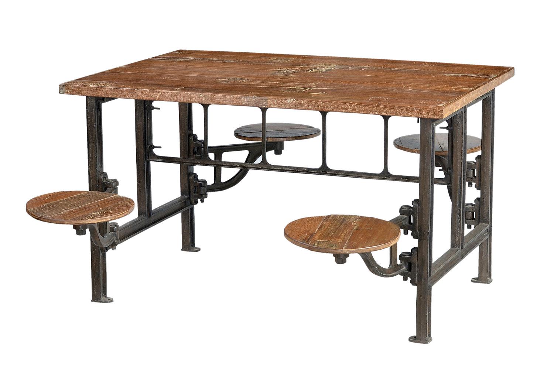 Massivholz Esstisch Industrial Look Industriell mit Sitzen  moebeldealcom  versandkostenfreie
