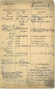 Simon Wieseneck,Thekla Fürt, Recha Wieseneck Jeidel, Ernst Wieseneck, Flora Wieseneck, Irma Wieseneck, Judenhaus Adelheidstr. 94, Wiesbaden
