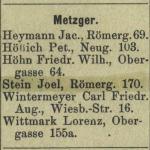 Joel Stein, Isaak Stein, Julius Stein, Dina Lieber, Judenhaus Wiesbaden Herrngartenstr. 11