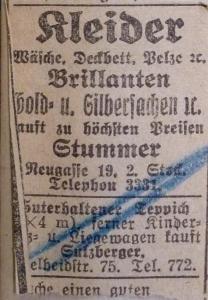 Isaak Stummer Horowitz, Franziska Horowitz Stummer, Rywa Horowitz Stummer, Judenhaus Wiesbaden Herrngartenstr. 11