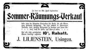 Joseph Lilienstein, Usingen