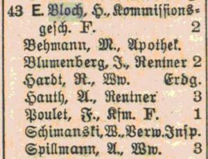 Kaiser-Friedrich-Ring 43, Wiesbaden, Judenhaus, Henri Bloch, Raymonde Bloch