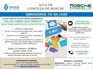 A Aula TIC de Moeche impartirá un novo curso por videoconferencia sobre o uso do correo electrónico