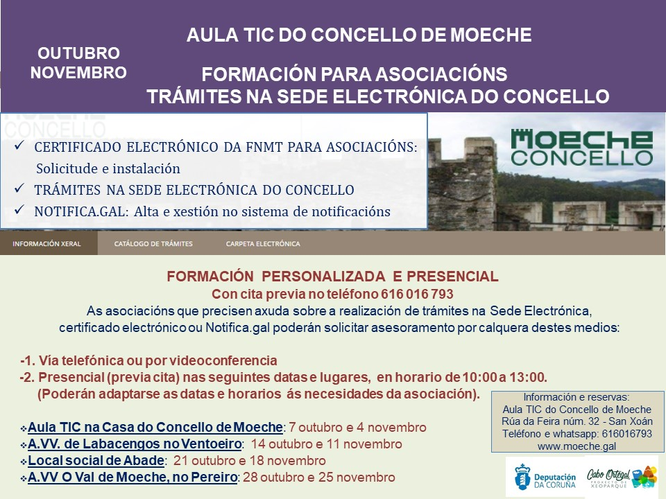 Formación para as asociacións sobre a realización de trámites na Sede electrónica