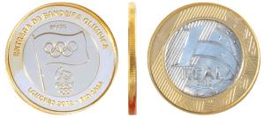 Moeda de 1 real da bandeira olímpica 2012-2016 1