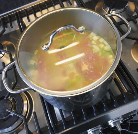 En wachten tot de soep kookt