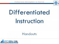 Diff. Inst Handouts slide