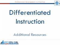 Diff. Inst Resources Slide