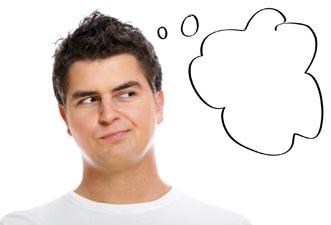 En mand tænkte på temaerne om, hvordan man skulle udvide hans uddrag og forbedre færdigheder med kvinder