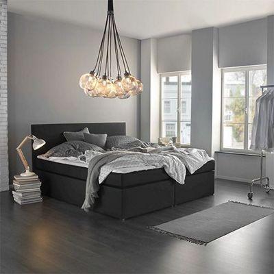 Boxspringbett Lucy in Anthrazit ca 180x200cm  Boxspringbetten  Betten  Schlafzimmer  Produkte