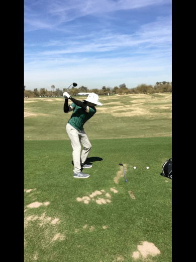 Reed Howard top of Backswing
