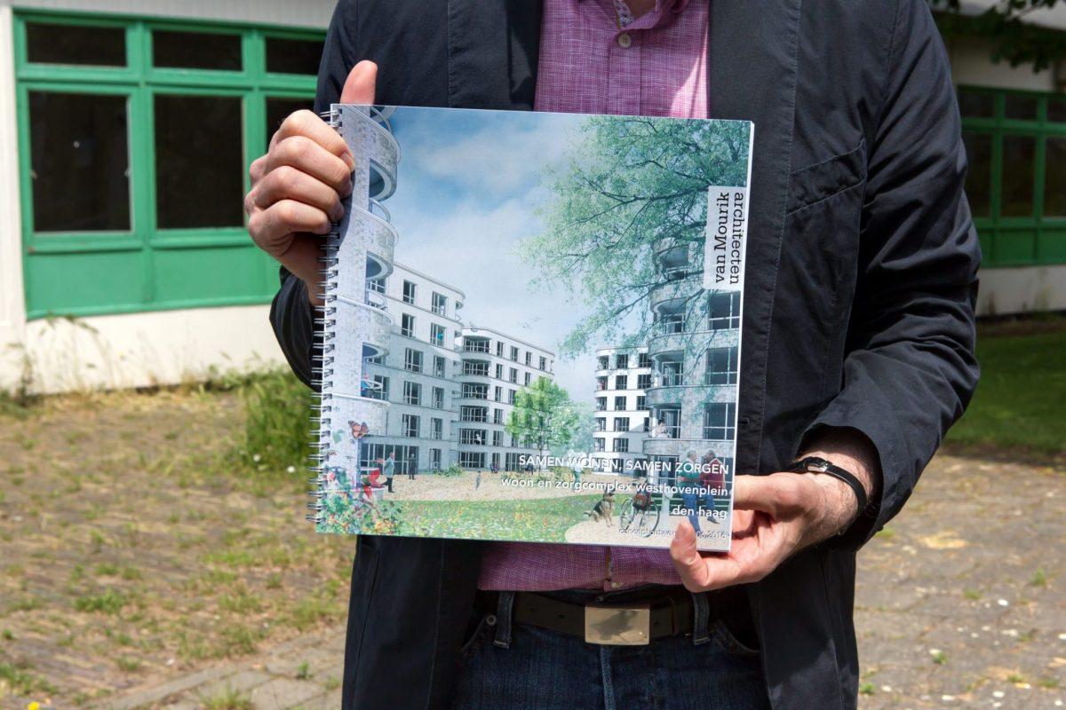 Project Vernieuwing Westhovenplein in Moerwijk Map met visuals