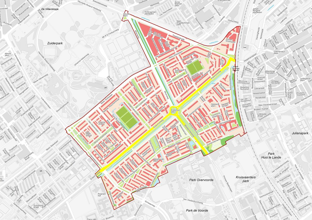 Wijkprogramma Kaart van Moerwijk Den Haag Stadsdeel Escamp Coöperatie Neo de Bono Bettelies Westerbeek Johan Apeldoorn