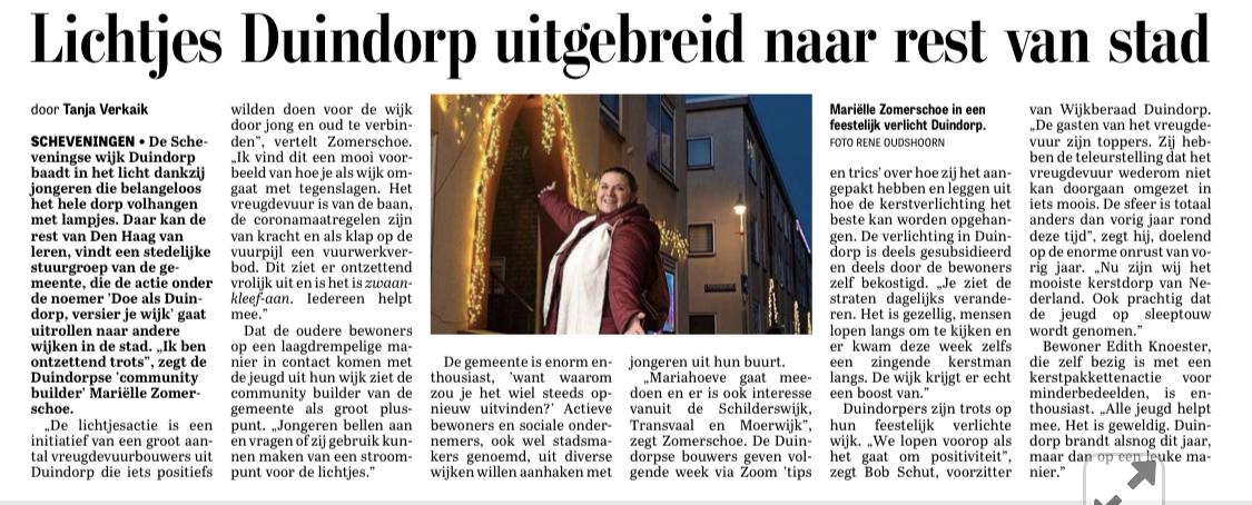 Kerstverlichting ook in Moerwijk