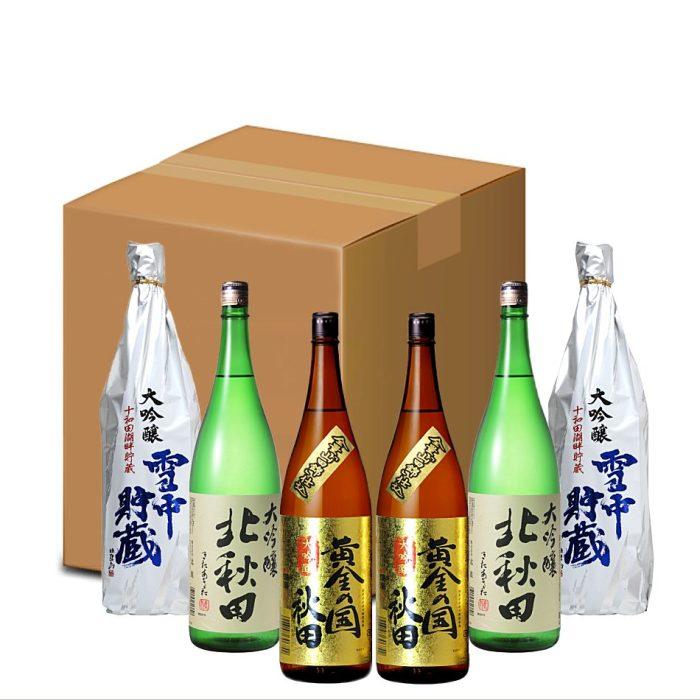 秋田地酒 1升ビンの大吟醸まとめ買い 1800ml×6本