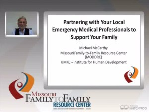 Graphic: Screenshot of Partnering with your Local EMS webinar
