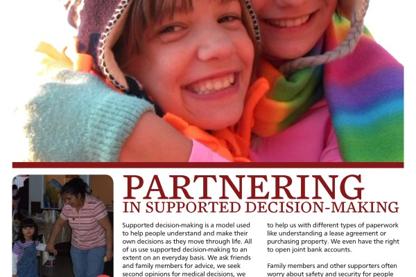 Graphic: Screenshot of Partnering Together Magazine, issue 4.4 - Partnering in Supported Decision-making