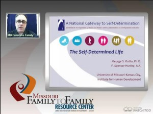Screenshot: Transition to Adulthood webinar screen