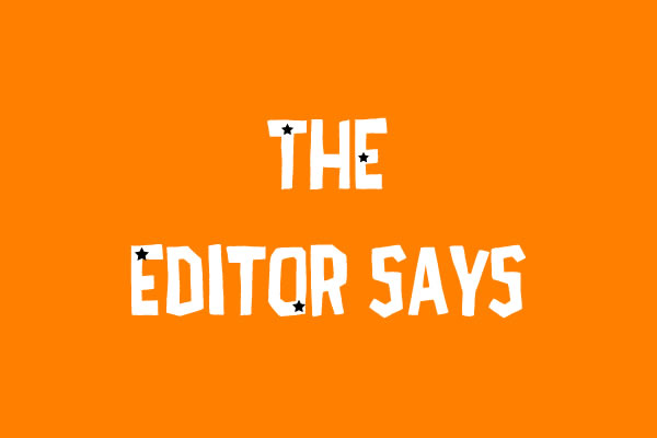 The editor says