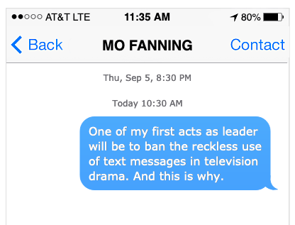 Ban text messages