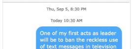 Ban text messages