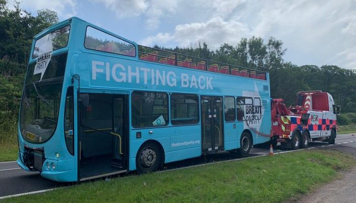 The Brexit Bus is stranded