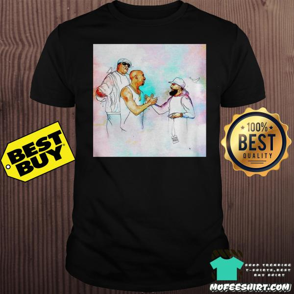 2Pac feat Nipsey Hussle and B I G in heaven shirt