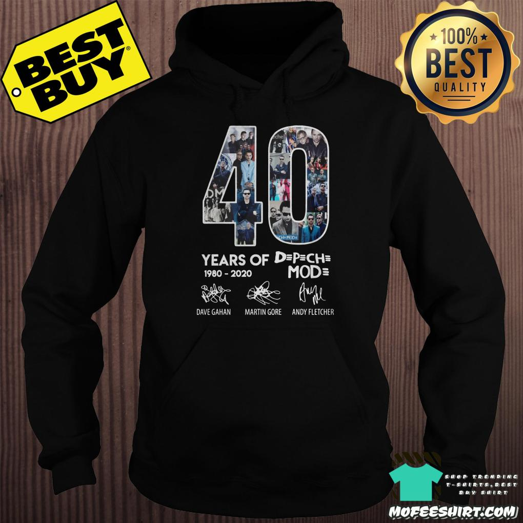 40 year of depeche mode 1980 2020 hoodie - 40 year of Depeche Mode 1980 - 2020 shirt