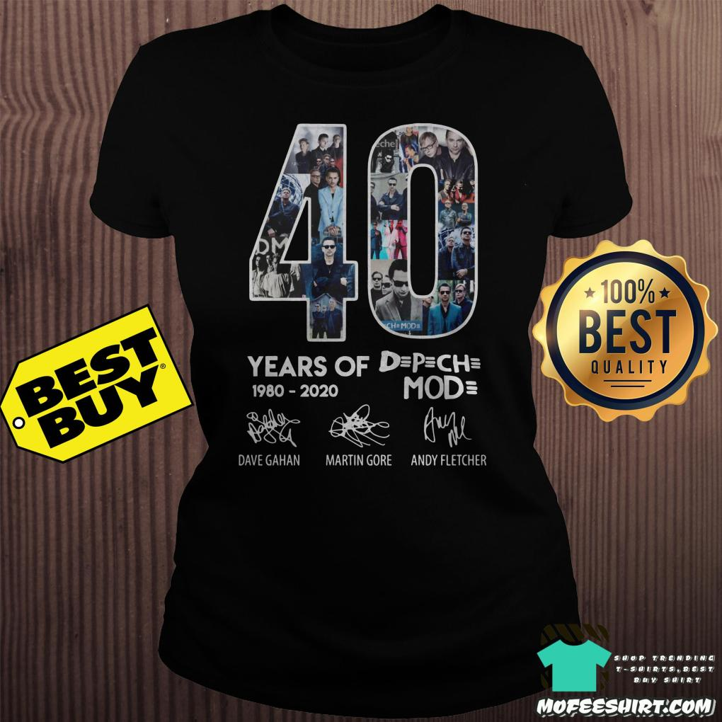 40 year of depeche mode 1980 2020 ladies tee - 40 year of Depeche Mode 1980 - 2020 shirt