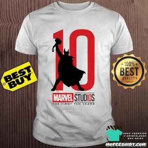 Thor 10 marvel studios the first ten years shirt