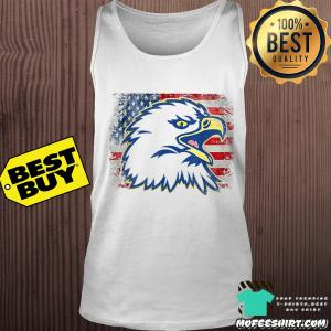 Independence day eagle American flag cool retro vintage 4Th July shirt
