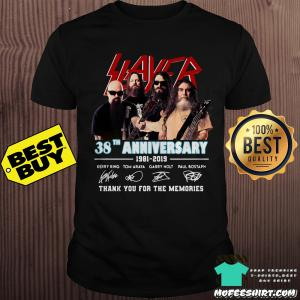 38 years of Slayer 1981-2019 thank you for the memories signature shirt