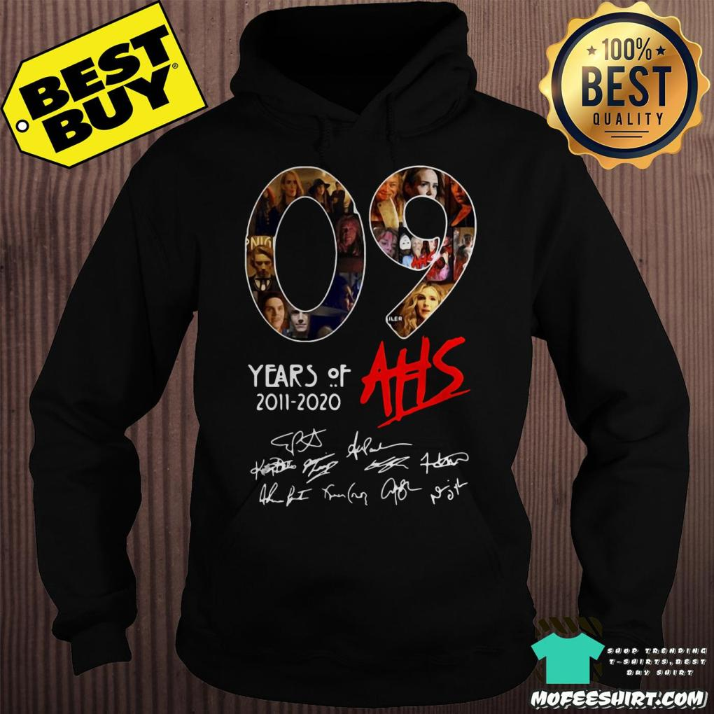 09 years of ahs 2011 2020 signatures hoodie - 09 Years Of AHS 2011-2020 Signatures shirt