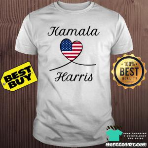 Kamala Harris America Flag Heart shirt