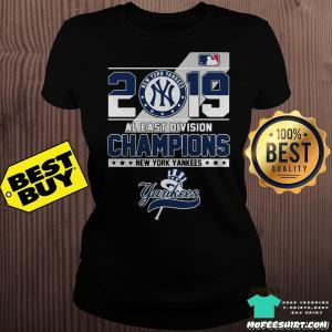 2019 Al East Division Champions New York Yankees ladies tee
