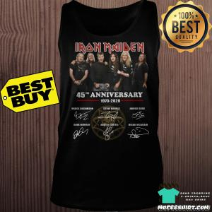 45th Anniversary Iron Maiden 1975 2020 Signatures Shirt