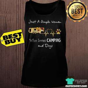 Just a simple woman who loves camping and dogs Autumn shirt