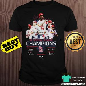 St Louis Cardinals 2019 NL central division champions signature shirt