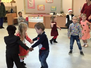 Dancing at our Christmas Party.