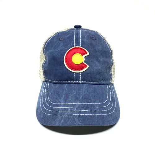 Vintage Denim C-Trucker Hat
