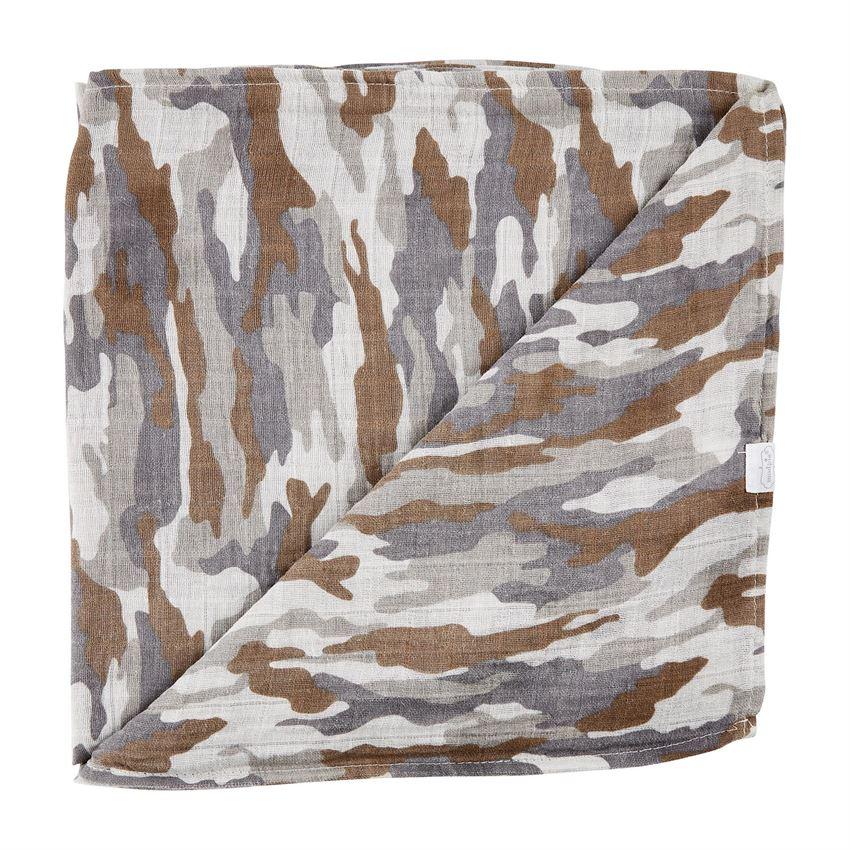 Muslin Swaddle Blanket-Camo